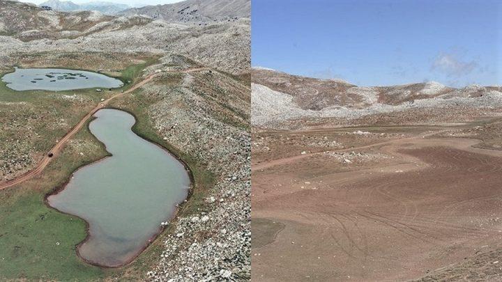 İkiz Göller kurudu, Yörükler de bölgeden ayrıldı